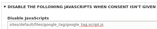 Deshabilitar javascript Eu Cookie Compliance.