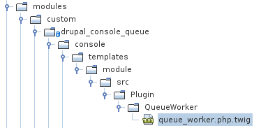 Template twig QueueWorker